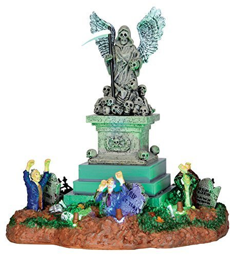 Lemax 34603 ANGEL OF DEATH Spooky Town Table Accent Animated Halloween Decor by Quasar By Jesus Del Pozo