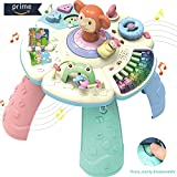 HOMOFY Baby Toys Musical Learning Table 6 Months up-Early Education Music Play&Learn Activity Center Game Table Toddlers,Infant,Kids Toys for 1 2 3 Years Old Boys & Girls- Lighting & Sound (New Gifts)