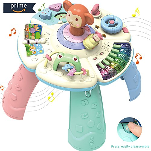HOMOFY Baby Toys Musical Learning Table 6 Months up-Early Education Music Play&Learn Activity Center Game Table Toddlers,Infant,Kids Toys for 1 2 3 Years Old Boys & Girls- Lighting & Sound (New Gifts) by HOMOFY