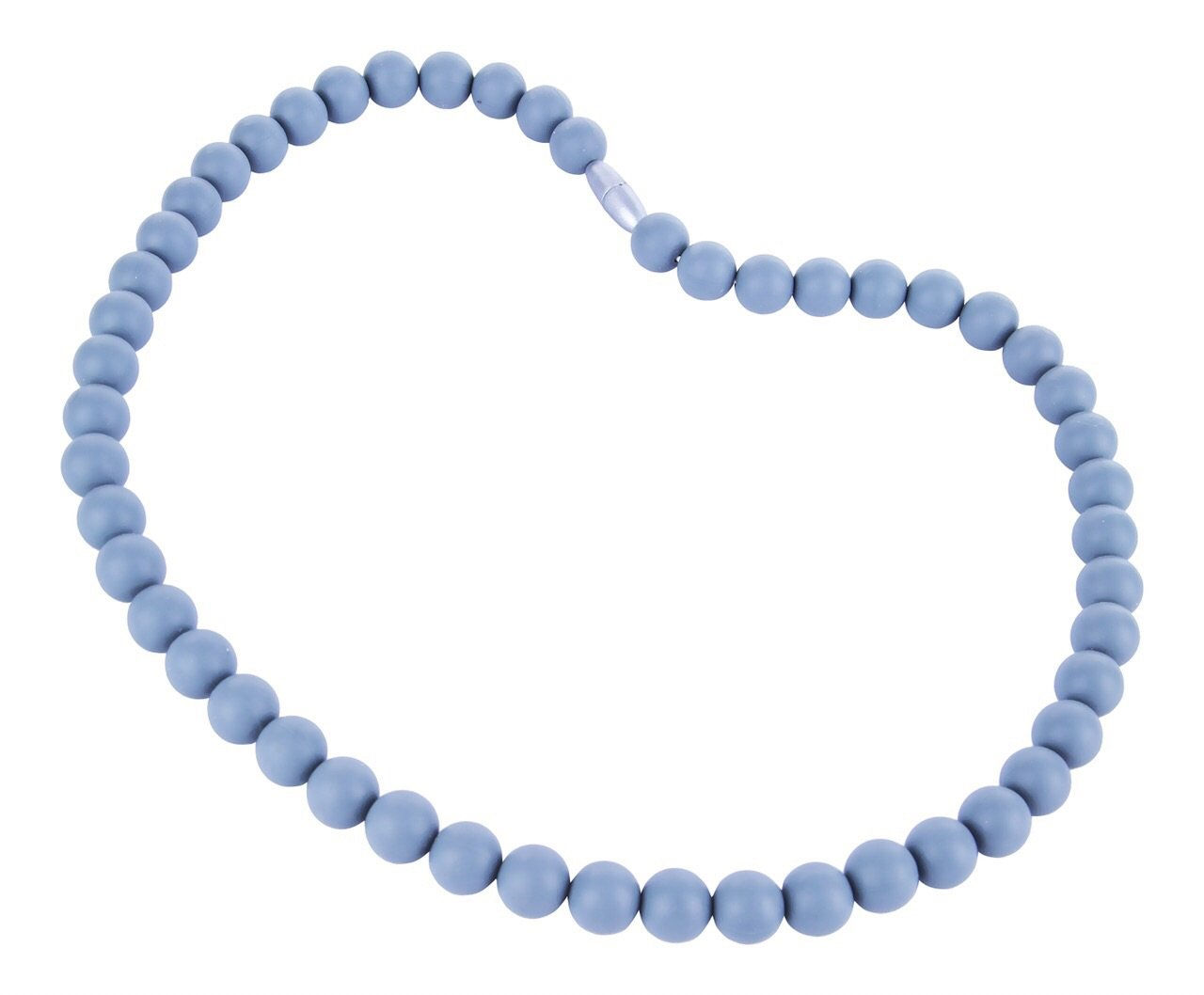 Belle /Él/éphant Silicone Stormy Grey Round Beaded Teething Necklace 30 Inch