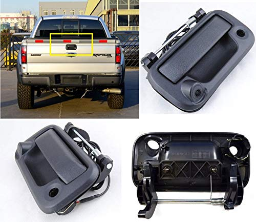 RedWolf Tailgate Handle With Rear View Backup Camera For 2004-2014 Ford F-150 F150 / 2009-2016 F-250 F-350 Trucks, 150 Degree Wide - 2013 Ford F350 Factory Radio