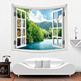 New Design Polyester Fiber Fake Window Home Decorative Wholesale Factory Custom Made Wall Tapestry