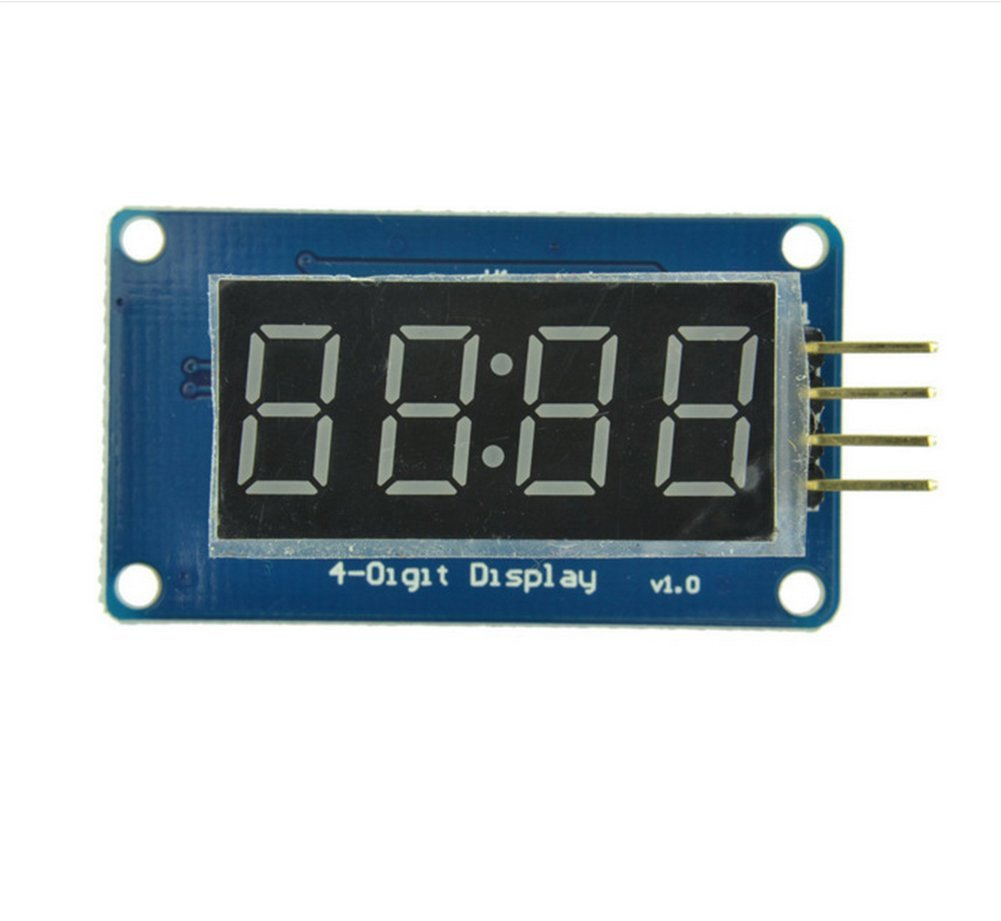 DaoRier TM1637 Chip DC 5 V/3.3 V 4 Bits digital Pantalla LED 8 segmentos Módulo Pantalla De Reloj para Arduino: Amazon.es: Informática