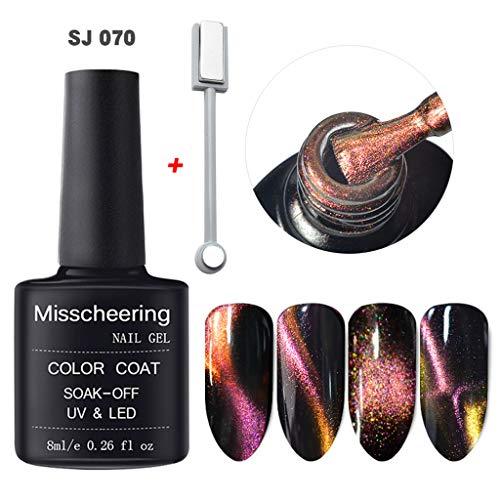 Nail Art KpopBaby Polish 5D Nail Gel Magnet Magic Cat Eye Gel Nail Art UV LED Gel Magnet Slice Set