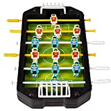 Kicko Soccer Game - 1 Mini Foosball Table - Football Game, Miniature Collections, Ideas, Christmas Present, Holiday Stocking Fillers