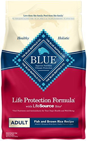 BLUE Life Protection Formula Adult Fish and Brown Rice  Dry Dog Food 15-lb