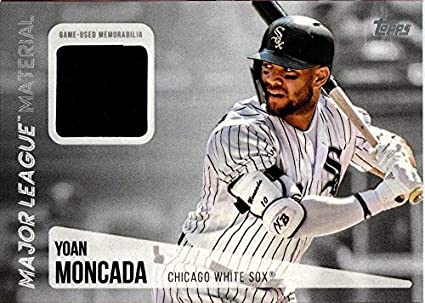 1bb27980d12 2019 Topps Major League Material Relic  MLM-YM Yoan Moncada Game Used Jersey  White