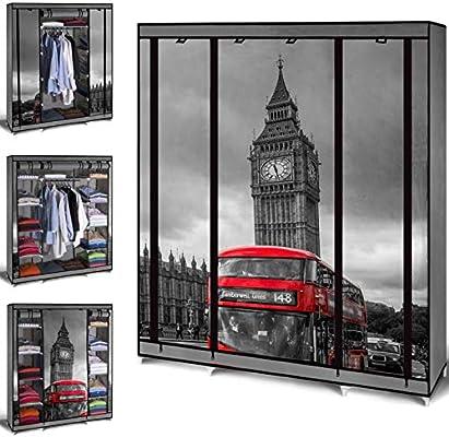 IDMarket – Armario de almacenaje London para vestidor, XXL, tela: Amazon.es: Bricolaje y herramientas