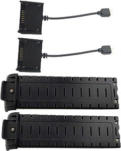sea jump 2PCS 7.4V 2800mAh Lithium Battery+ 2PCS Charging Box for HS700 Four-axis Aircraft RC Drone Lithium Battery Charger,Black