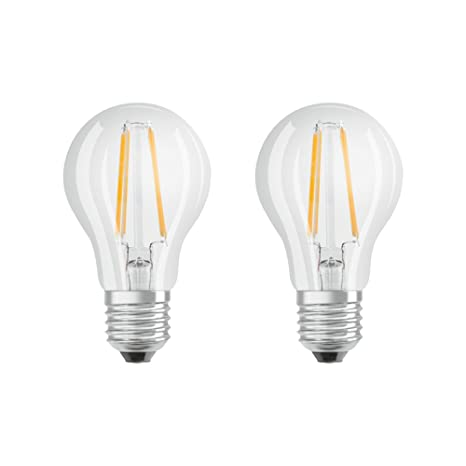 Osram Base, Bombilla LED E27, 7 W=60w, Blanco, 2 Unidades