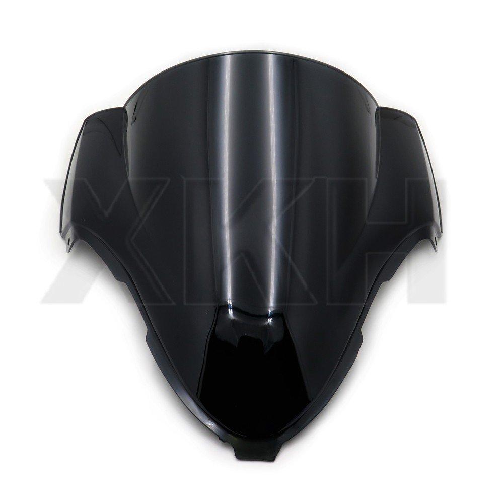 XFMT Moto Double Bubble Windscreen Windshield Compatible with SUZUKI GSXR600 GSXR750 GSX-R 11-17