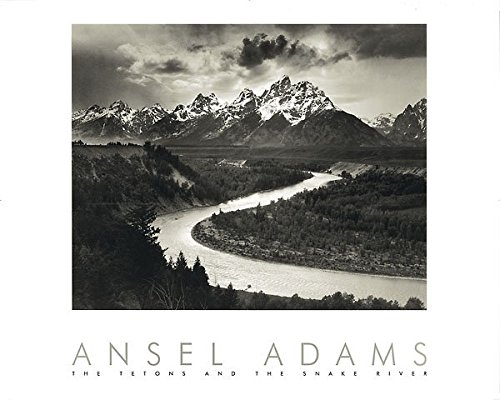 (Snake River and the Tetons by Ansel Adams 30x24 Black & White Landscape Print Poster)