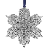 Wendell August Snowflake Ornament, Metal Christmas Ornament, Made in America, (Intricate)