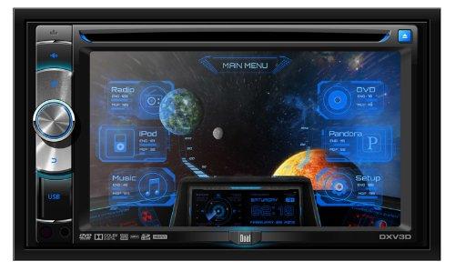 Dual DX-V3D In-Dash 6.2-Inch Touchscreen CD/SD/DVD/MP3/USB Multimedia Car Stereo Receiver Bluetooth/Pandora