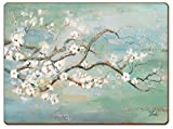 Cala Home 4 Premium Hardboard Placemats Table Mats, Cherry Blossoms