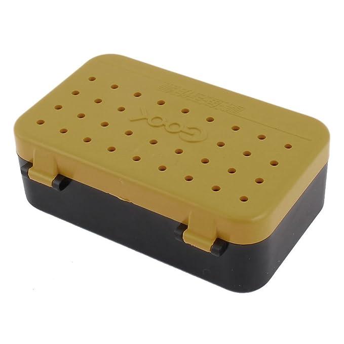 Amazon.com : eDealMax plástico cebo atraer a la Pesca Tackle caja de almacenaje DE 2 piezas Amarillo Negro : Sports & Outdoors
