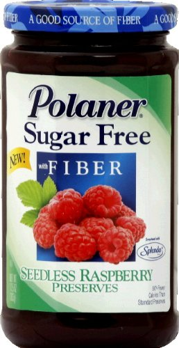 Polaner Sugar Free with Fiber Seedless Raspberry Preserves, 13.5 Ounce - 12 per ()