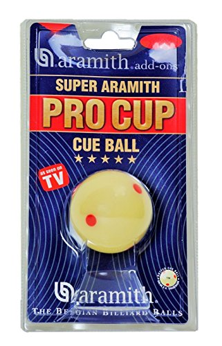 ation Size Billiard/Pool Ball: Super Aramith Pro Cup Cue Ball with 6 Red Dots ()