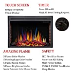 R.W.FLAME Electric Fireplace Insert,Traditional Antiqued Build in Recessed Electric Stove Heater,Touch Screen,Remote Control,750W-1500W with Timer & Colorful Flame Option … from R.W.FLAME