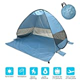 Cheap Onmiy Beach Tent Shade Anti UV Pop Up Tent For Outdoor Oversized Design 2-3 Person Lightweight Portable Cabana Sets up in Seconds