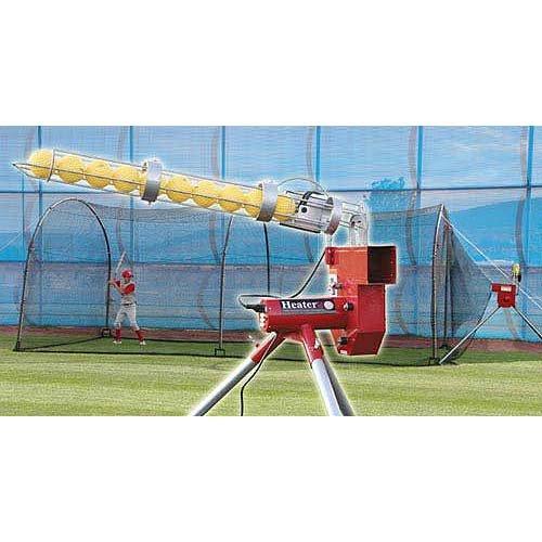 Heater Sports Sports Baseball Pitching Machine and Xtender 24 Batting Cage