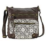 Scarleton Chic Lace Style Crossbody Bag H191221 - Coffee