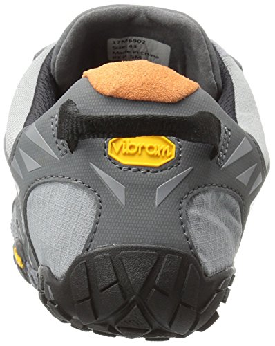 Vibram Fivefingers V-Trail, Sneaker Uomo Grigio (Grey/Black/Orange)