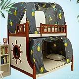 HEXbaby Mosquito Net Creative Printing Bunk Beds Mosquito Net/Dormitory Student Dual-use Blocking Light Mosquito,135x190x100cm