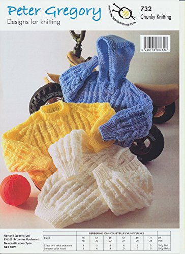 Hooded Sweater Pattern (Baby Chunky Knitting Pattern - Long Sleeved Sweaters & Hooded Sweater with V & Round Neck (PG)