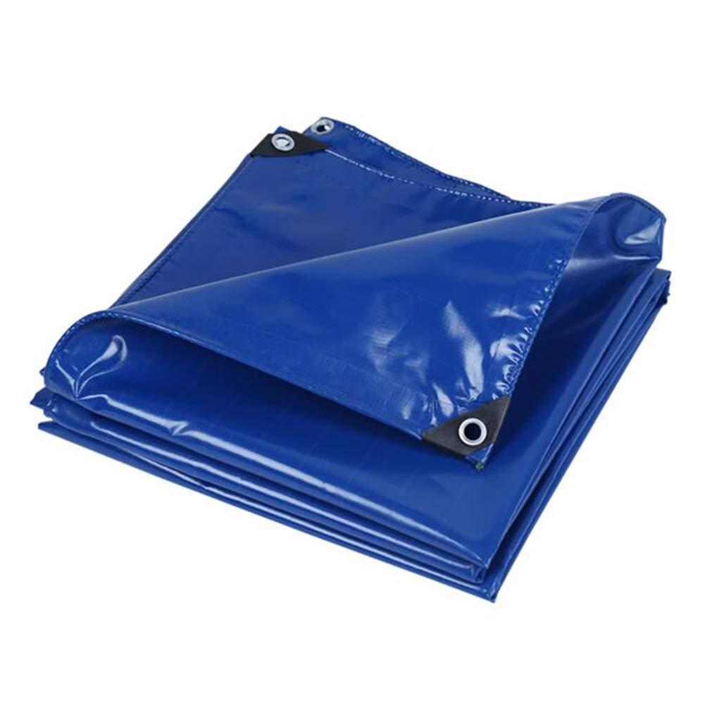DALL ターポリン タープ 防水 レインクロス グランドシート カバー 複数のサイズ 厚い UV耐性 (色 : 青, サイズ さいず : 5×7m) 5×7m 青 B07L4B7BF4