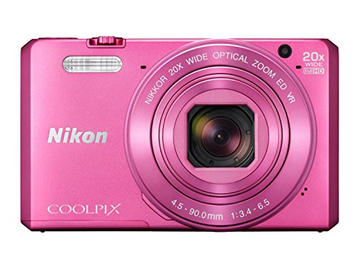 Nikon COOLPIX S7000 Digital Camera (Pink) (International Model) No Warranty