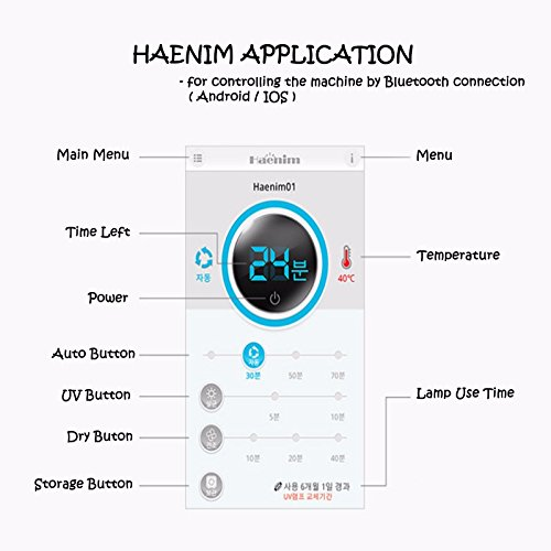 Haenim HN-03 Multi Functional Baby Bottle Sterilizer 3rd Generation Bluetooth 220V (Black) by Haenim (Image #4)