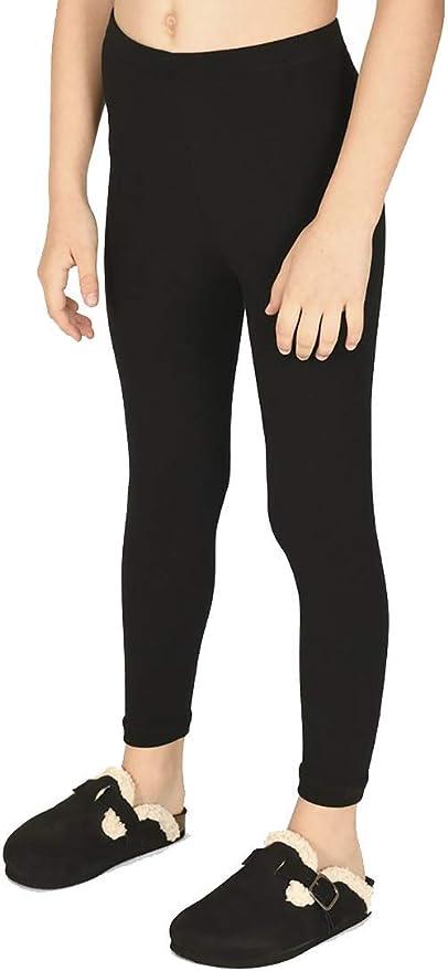 elasticizzati dai 3 ai 13 anni sportivi PrettyFashion Leggings lunghi da bambina tinta unita