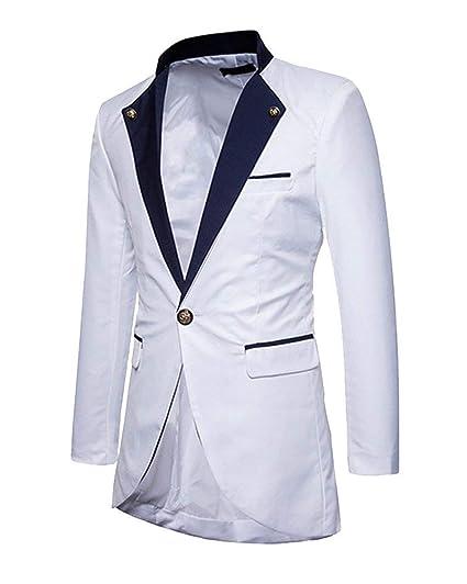 ... Blazer Mariage Élégant Coupe Slim Homme Fit Partie Veste De Costume De Mariage  Costume Blazer Costume Veste À Manches Longues Vintage Tuxedo  Amazon.fr   ... 0bd72af7adf