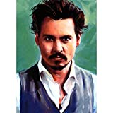 Johnny Depp Actor 3D Poster Wall Art Decor Print | 11.8 x 15.7 | Lenticular Posters & Pictures | Memorabilia Gifts for Guys & Girls Bedroom | Sweeney Todd Movies & Celebrity Fan Picture & Artwork