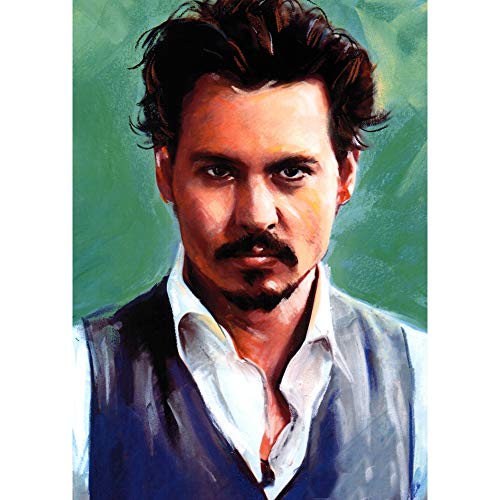 Todd Abstract Painting - Johnny Depp Actor 3D Poster Wall Art Decor Print | 11.8 x 15.7 | Lenticular Posters & Pictures | Memorabilia Gifts for Guys & Girls Bedroom | Sweeney Todd Movies & Celebrity Fan Picture & Artwork