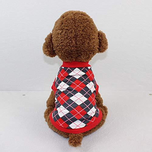 Hpapadks Pet Dog Vest,Dog Clothing Cotton Vest Puppy Costume for Small Dog Diamond Shaped pet Cotton Vest Puppy Clothes for Cheap