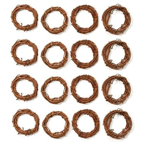 Bulk Buy: Darice DIY Crafts Grapevine Wreath Natural 4 inches (12-Pack) GPV4 (Wreath Rings)