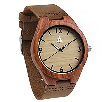 b62c538cc7 Image Unavailable. Image not available for. Color  Treehut Redwood Men s Wooden  Watch ...