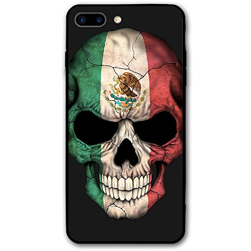(Happy Index Mexican Skull Face Flag iPhone 7 Plus Case/iPhone 8 Plus Case Soft TPU Shell Shock-Absorption Bumper Anti-Scratch Case Enhanced Grip Protective Defender)