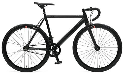 Retrospec Bicycles Drome Fixed-Gear Track Bike with Carbon Fork, Matte Black, 61 cm/X-Large (Bike Road Pinarello)