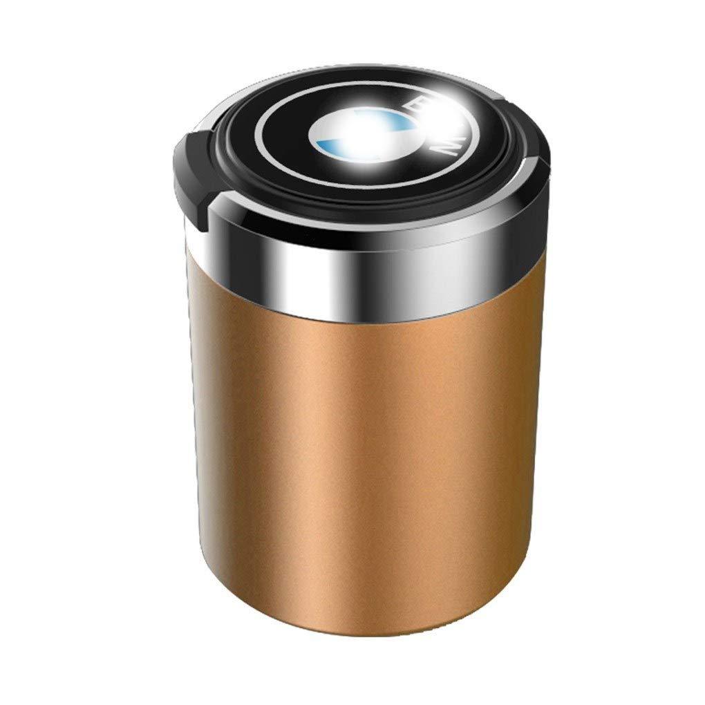 Blu Rossa Compatibile Con BMW Color : C Oro Posacenere For Auto Indicatore LED Blu Con Scatola Portaoggetti Interna For Auto Nera