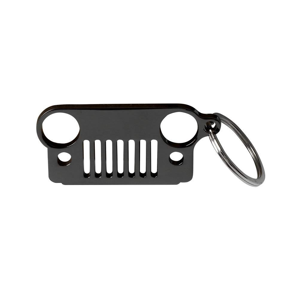 JK Car Key KeyRing for Jeep CJ TJ YJ KeyChain Mini Stainless Steel Grill Key Chain XJ