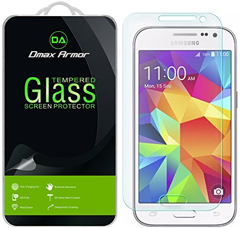 Dmax Armor for Samsung Galaxy Core Prime Glass Screen Protector, [Tempered Glass] Ballistics Glass, 99% Touch-Screen Accurate, Anti-Fingerprint, Bubble Free [0.3mm] Ultra-Clear
