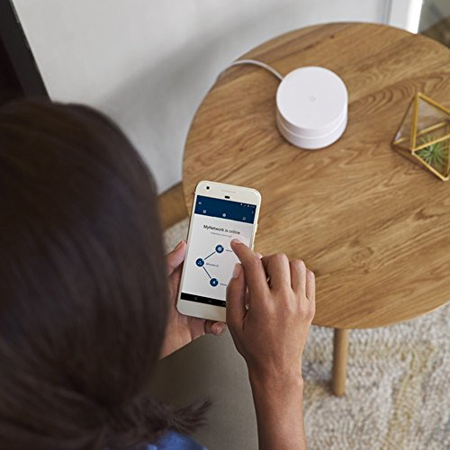 Google Wi-Fi (3-Pack) - GA00158-US w/Accessories Bundle Includes, 3X Deco Gear Google WiFi Outlet Wall Mount (White) & 2 Pack WiFi Smart Plug by Google (Image #5)