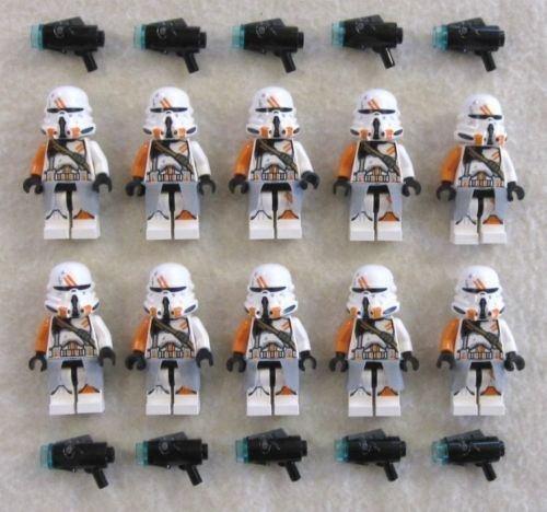 10 NEW LEGO AIRBORNE CLONE TROOPER MINIFIG LOT 212th Utapau 75036 (Star Wars Lego Utapau Troopers)