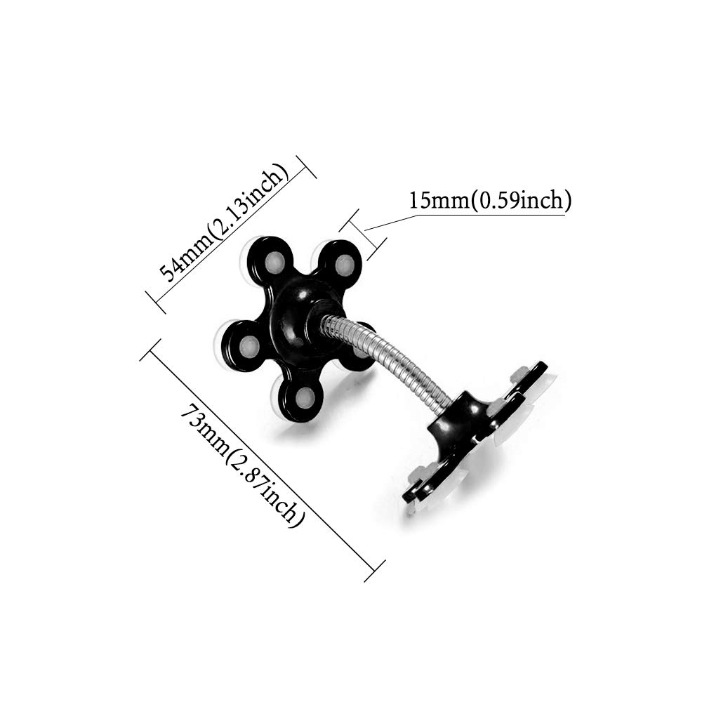 360 Rotation Angle Suitable for Family Use PJLJY Magic Suction Cup Car Phone Holder Metal Support is Adopted Suction Cups Black