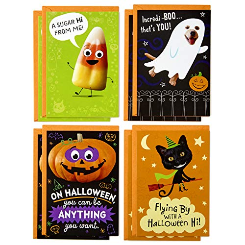 Hallmark Halloween Cards Assortment, Candy Corn (8 Cards with Envelopes) -