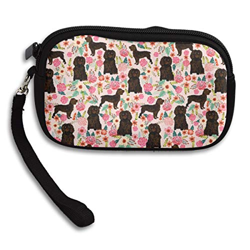 Boykin Spaniel Dog Pink Cute Florals Coin Purse,wallet Change Purse With Zipper,Mini Pouch Phone Pouch Cosmetic Bag Cute Portable Bag Coin Bag