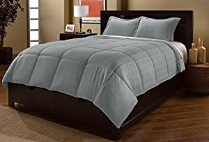 JBFF Microfiber Down Alternative Comforter Set, King, Slate